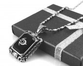 Fire Emblem Exalt Symbol Agate Stone Stainless Steel Necklace