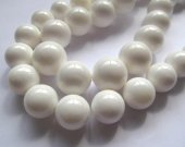 2strands 4-16mmhigh quality natural white shell high quality   round ball jewelry beads