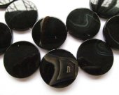 wholesale 8 10 12 14 16 20 25 30 mm full strand  Natural Brazil  Agate Sardonyx Agate Carmerial round button coin Black red bead
