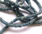 Natural Kyanite Gemstone  high quality 3-8mm full strand  Round rondelle wheel heishi   Blue Loose Bead
