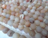 high quality 2strands 8 10 12 14 16mm Natual druzy agate titanium Round Ball black white silver gold mixed  loose bead