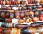 5strands 6-30mm Natual agate carnerila onyx Round  rice barrel rondelle drop matte black red  wholesale loose bead