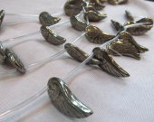 2strands  Natural  Raw pyrite  crystal  Wing Carved learf  pyrite iron gold pyrite  charm beads 15-25mm