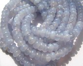 genuine chalcedony  4-10mm full strand  Natural Blue Chalcedony Beads  rondelle abacus  chalcedony beads