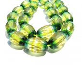 high quality Ametrine gemstone green yellow  rock crystal barrel drum  faceted jewelry beads 12x16mm full strand