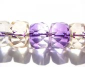 AA+ Ametrine quartz  Amethyst Citrine rock crystal round rondelle  faceted briolette jewelry beads 4x6 5x8 6x10mm full strand