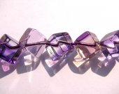 AA+ 2strands 8 10mm Ametrine quartz gemstone  Amethyst Citrine rock crystal cube box  jewelry beads