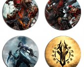 Darksiders Set Of 4 Wood Drink Coasters