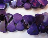 purple Coral  Teardrop Drop Freeform yellow blue  green Red  smooth flat Bamboo Coral  beads 8-18mm full strand--top drilled