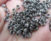 free ship--200pcs 4mm  Micro Pave Crystal spacer Brass European Bead  Rondelle Pinwheel Buttone gunmetal jewelry connector Findings