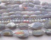 25%off-- 9strands 6-40mm genuine chalcedony stone rice nuggets round chalcedony beads