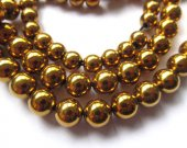 25%off--2-14mm full strand  Hematite gem gold  plated ,round ball silver gold brozne gunmetal mixed  bead
