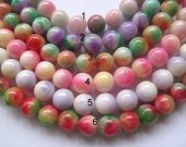 jade stone 2strands 6 8 10 12mm natural  Jade Beads  Round Ball violet purple baby pink red  Asssortment jewelry bead