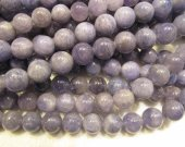 wholesale 5-6mm full strand genuine Tanzanite gemstone,round ball purple blue grey tanzanite  jewelry bead