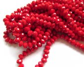high quality 2strands 2x4-10x16mm Crimson Red Jade Rondelle  Abacus Faceted Beads mixed  jewelry making supplies
