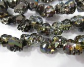 Handmade 15 25mm full strand  Crystal bead Crystal like Swarovski  skull skeleton rainbow black loose beads