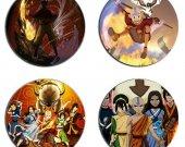 Avatar The Last Airbender  Set Of 4 Wood Drink Coasters