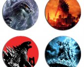 Godzilla Set Of 4 Wood Drink Coasters