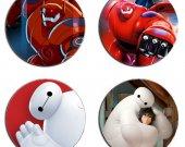Big Hero 6 Set Of 4 Wood Drink Coasters