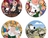 Family Guy Set Of 4 Wood Drink Coasters
