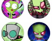 Invader Zim Set Of 4 Wood Drink Coasters