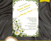 Rustic Bridal Shower Invitation, Daisies Invitation, Country Invite, Floral Bridal Shower Invitation - Printable, DIY, Digital File