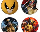 Wolverine Set Of 4 Wood Drink Coasters