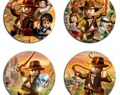 Lego Indiana Jones Set Of 4 Wood Drink Coasters