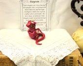 Polymer Clay Dragon-Adoptable Baby Dragon- Dayven the Pink Dragon