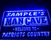 tm-07- Name Personalized Custom Man Cave Patriots Country Pub Bar Beer Neon Sign hang sign home decor crafts