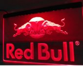 MU-11 RED Bull Engergy Drink BEER BAR PUB CLUB 3D SIGNS LED Neon Light Sign