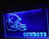 Dallas Cowboys Helmet NR Bar LED Neon Light Sign