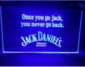 B-287 blue JACK DANIELS WHISKEY beer bar pub club 3d signs LED Neon Light Sign man cave