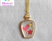 Perfume Bottle Necklace Flower Women Jewelry