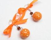 Orange Earrings, Orange Beaded Earrings, Beaded Jewelry, Chandelier Earrings, Fashion Jewelry, Fun Earrings, Cute, Brigt