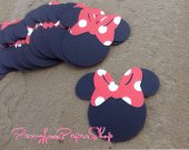 25 Minnie Mouse Silhouette  Cutouts - different sizes