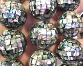 8-30mm 16inch  Handmade  Shell Round Ball Beads,Mosaic Shell Beads,Gray Mother of Pearl Beads,MOP Beads Shell jewelry