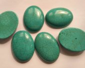 12pcs 8-40mm Turquoise Cabochon Oval Egg Stacking Ring  Jewelry Designer Handmade Handcut Turquoise Stone
