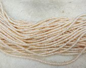 Natural Pearls  Freshwater Cultured Pearl Beads Rondelle Heishi June birthstone Pearl Jewelry  Loose Beads  3-12mm full strand