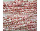 Genuine Conch Shell jewelry Pink Round Roundel Disc Pink  Conch Necklace Beads 8-12mm full strand