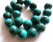 2strands 2-20mm Turquoise Gemstone  High Quality Round  Ball Dark blue Veins Black  Loose Beads