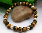 Tigers Eye Rounds Stretch Bracelet