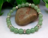 Green Aventurine Rounds Stretch Bracelet