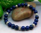 Lapis Lazuli Rounds Stretch Bracelet