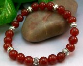 Carnelian Rounds Stretch Bracelet
