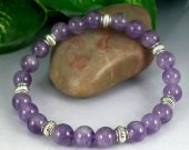 Amethyst Rounds Stretch Bracelet