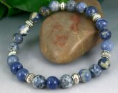 Sodalite Rounds Stretch Bracelet