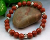 Red Jasper Rounds Stretch Bracelet