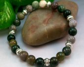 Fancy Jasper Rounds Stretch Bracelet