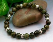 Dragons Blood Jasper Rounds Stretch Bracelet